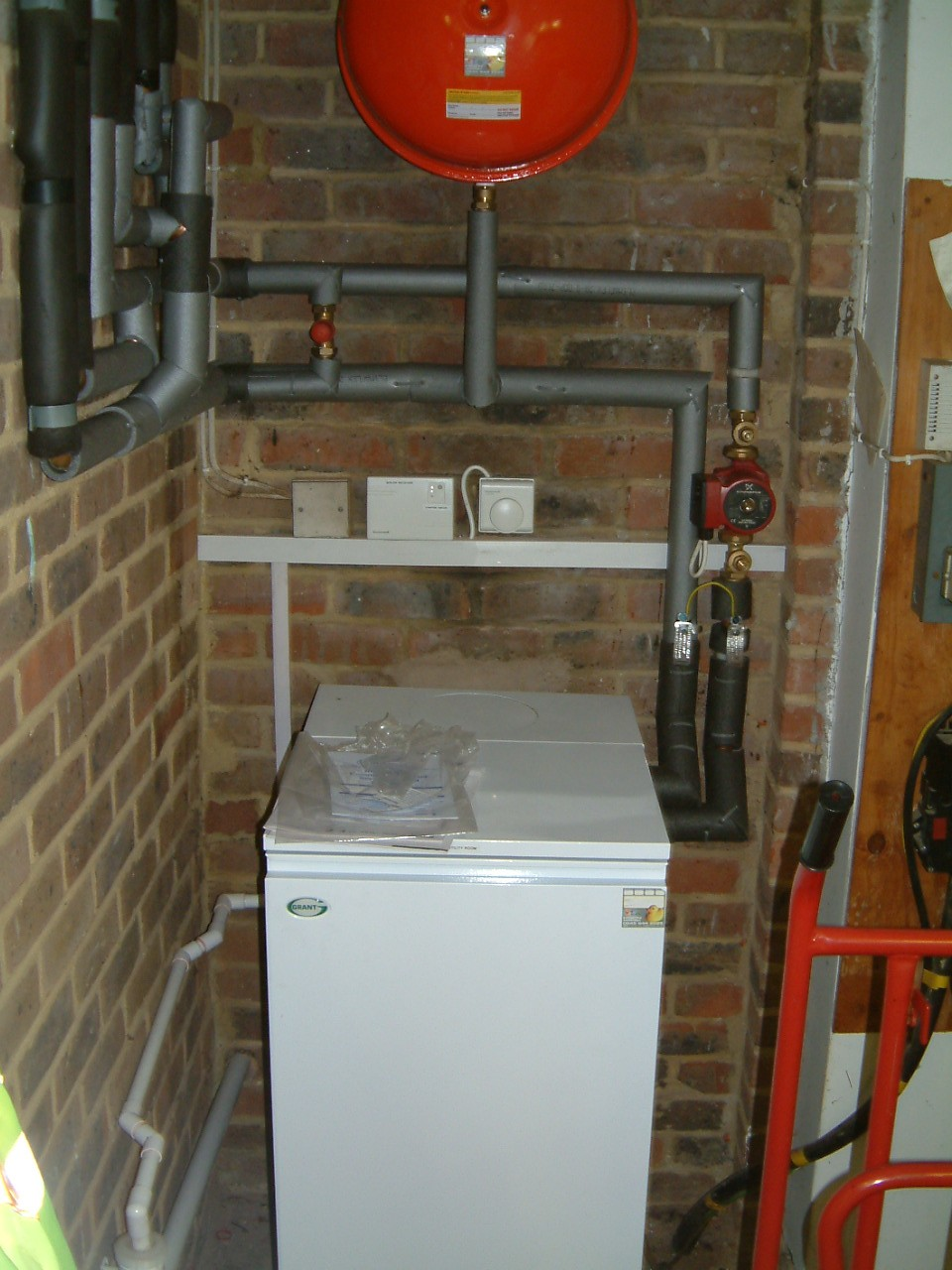 Grant Vortex Boiler Two Dualstream Units And Hometronic