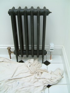 School radiator fitted with Hometronic valve