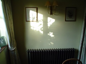 School radiator in the lounge