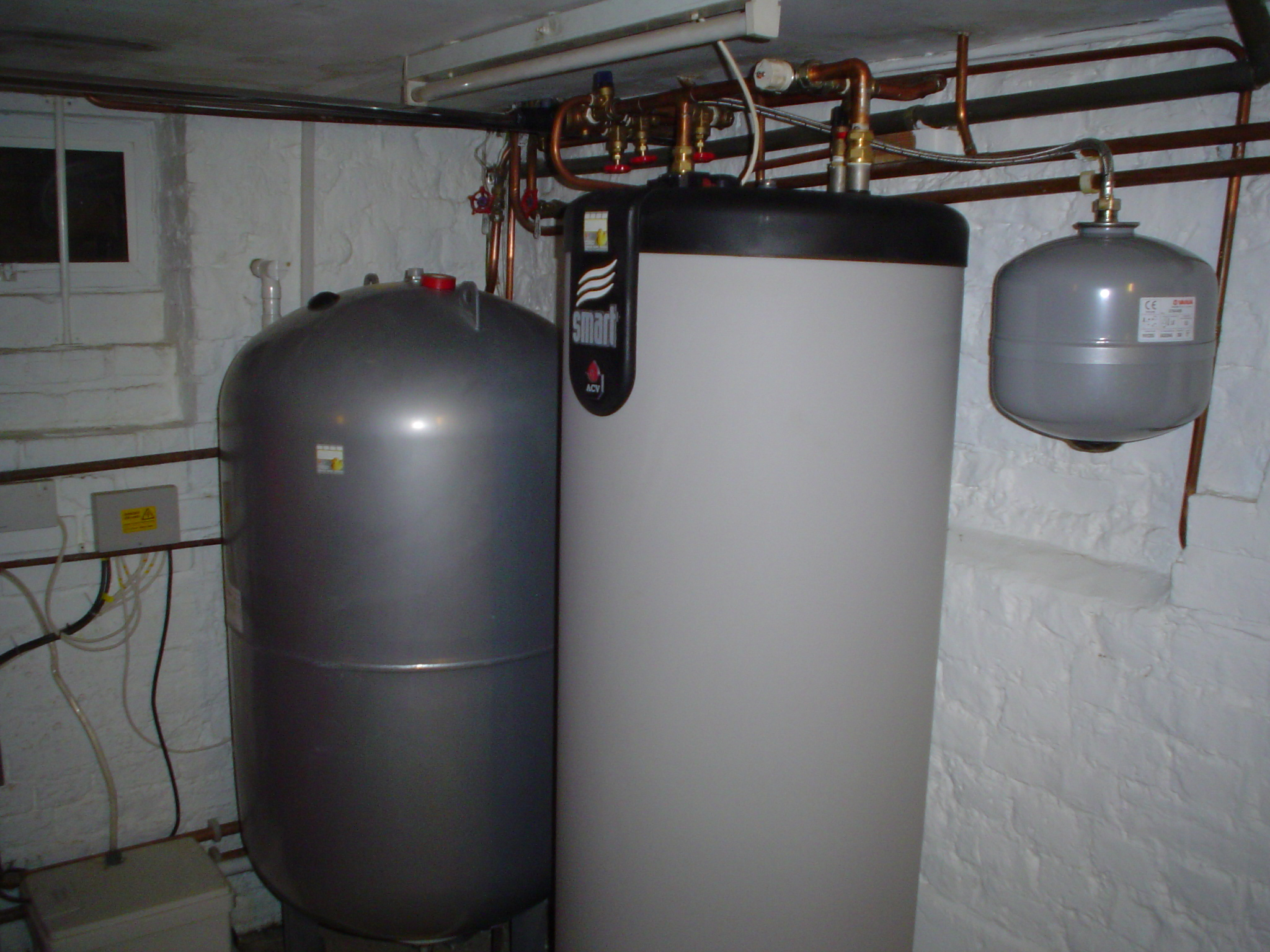Replacement water system in cellar for multi bathroom residence ...