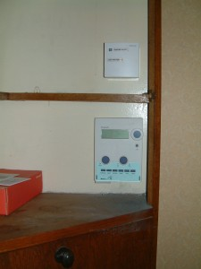 Hometronic controller in upstairs cupboard