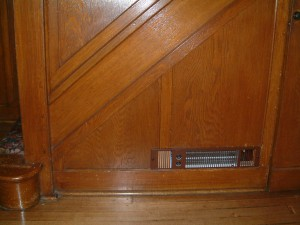 SpaceSaver convector heater mounted into panelling