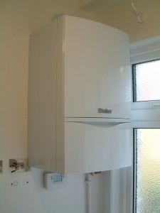 New Vaillant boiler in utility room