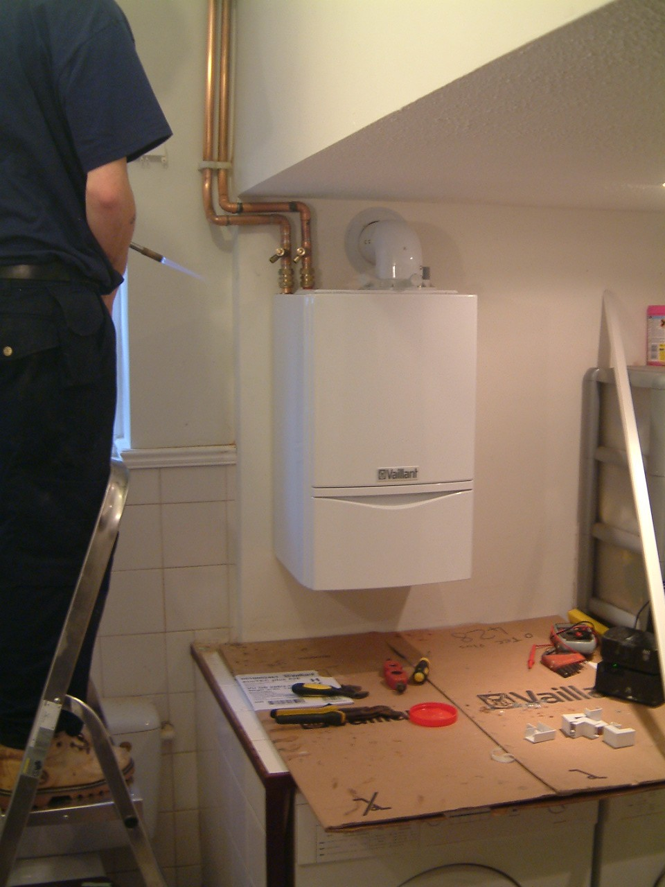 how to open a vaillant boiler