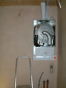 Viessmann 46Kw boiler in utility room