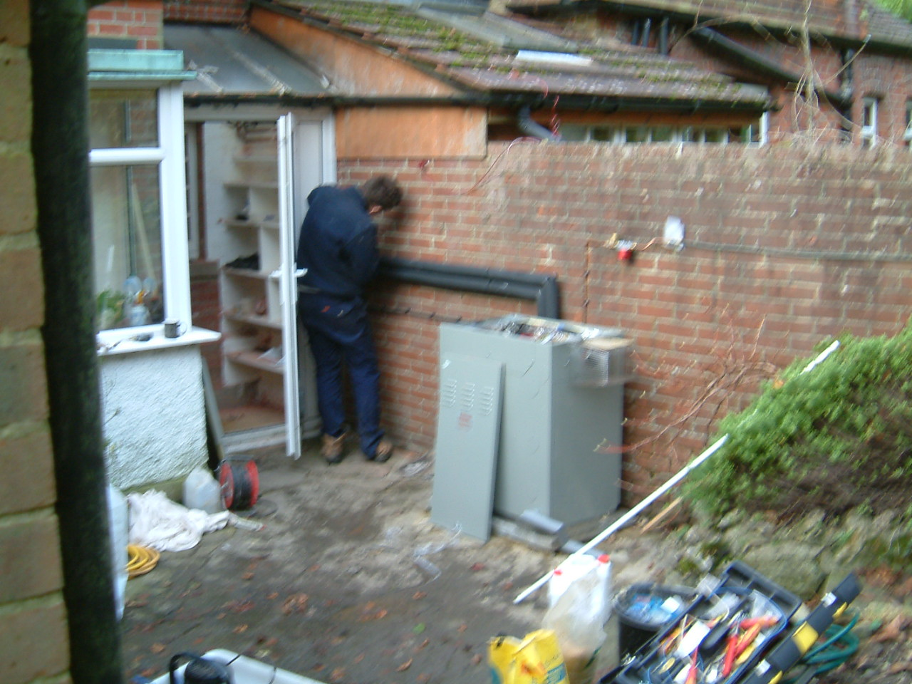 Outdoor Oil Module In Caterham Hot Water And Central Heating