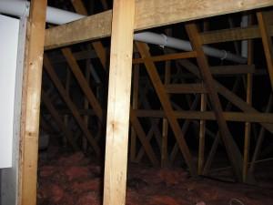 Vaillant flue inside loft area