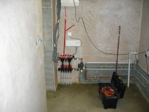 Underfloor heating and radio controls