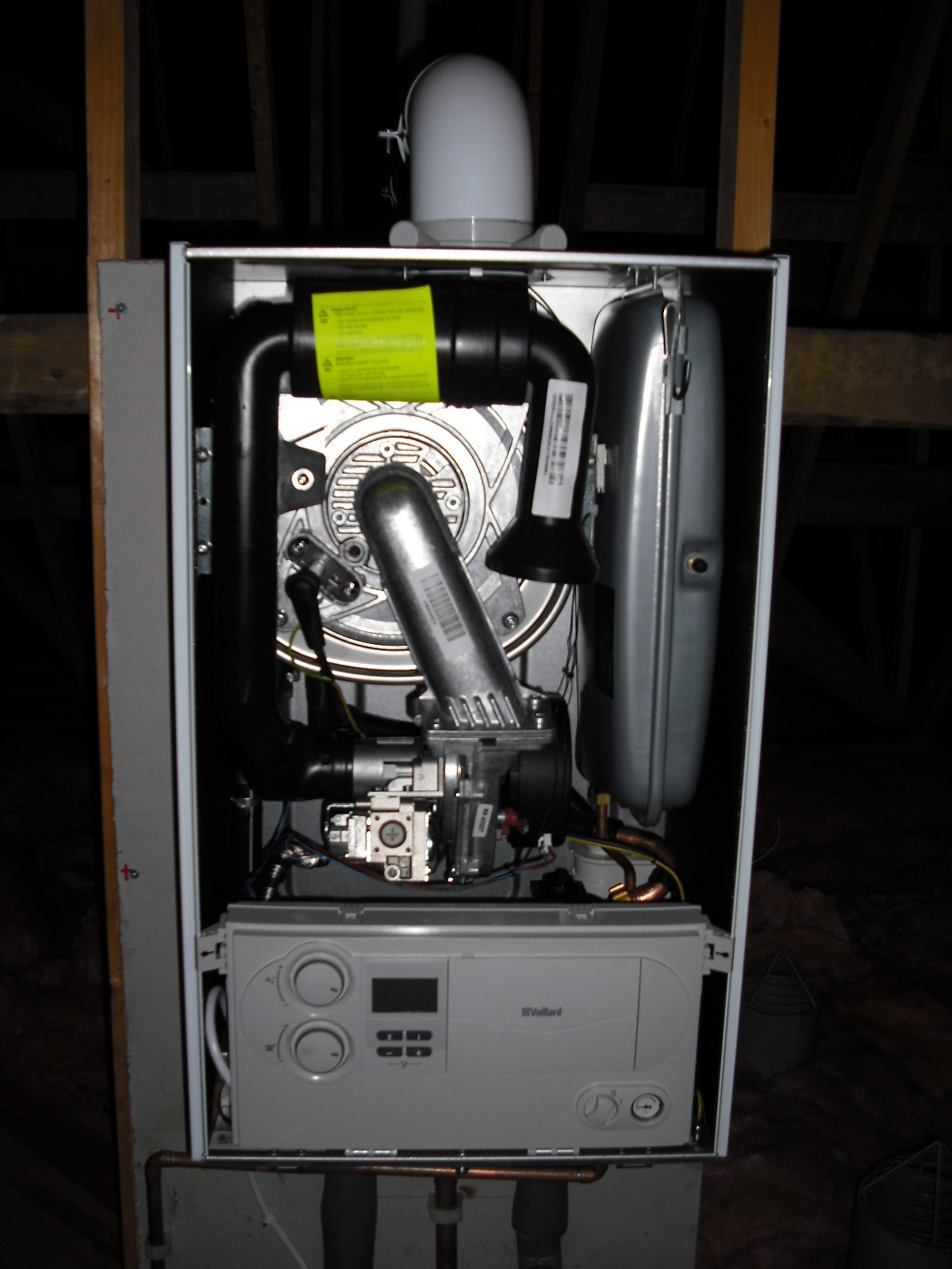 New Vaillant 6 Series System Boiler In Loft Nutfield