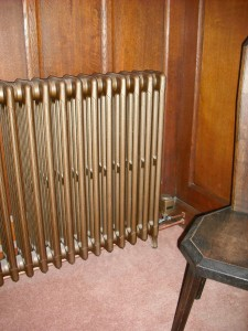 refurbished School radiator and custom coloured Hometronic valve