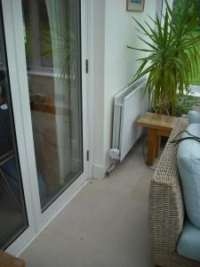 Hometronic radiator control in te conservatory