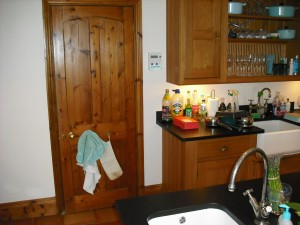 Small Hometronic panel in kitchen controls entire house