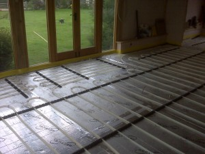Another view of the underfloor pipework