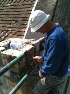 Rick Johnson, our brick maestro subcontractor