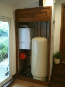 The finished hot and cold water/heating solution