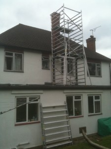 Getting ready to re-line the chimney