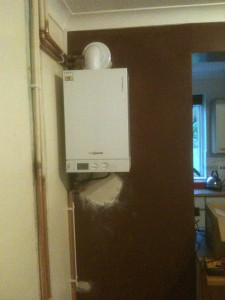Condensing Boiler Using Old Chimney Stack Hot Water And