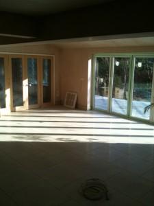 Underfloor heating in new kitchen/dining areas