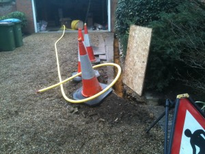 New pipe from meter to house