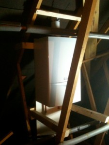 New Viallant ecoTEC+ system boiler in loft