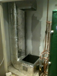 Ductwork prepared for new Lennox heater