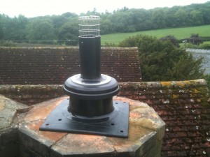 New flue termination completed
