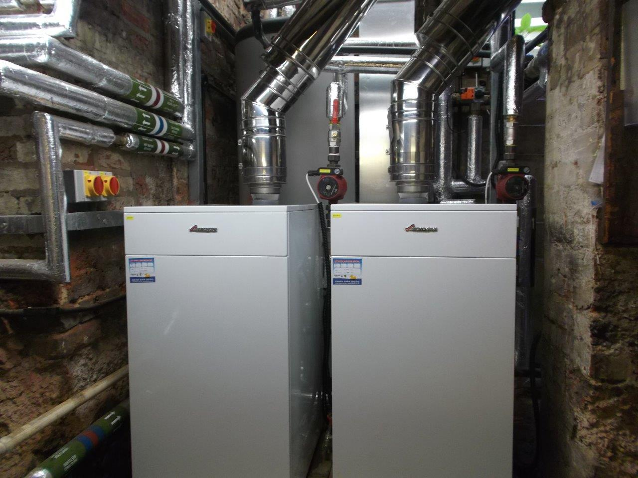 Large old listed country house 155kw boiler system for Best central heating system for large house