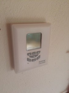 Sunvic radio thermostat at a Kent boiler installation job